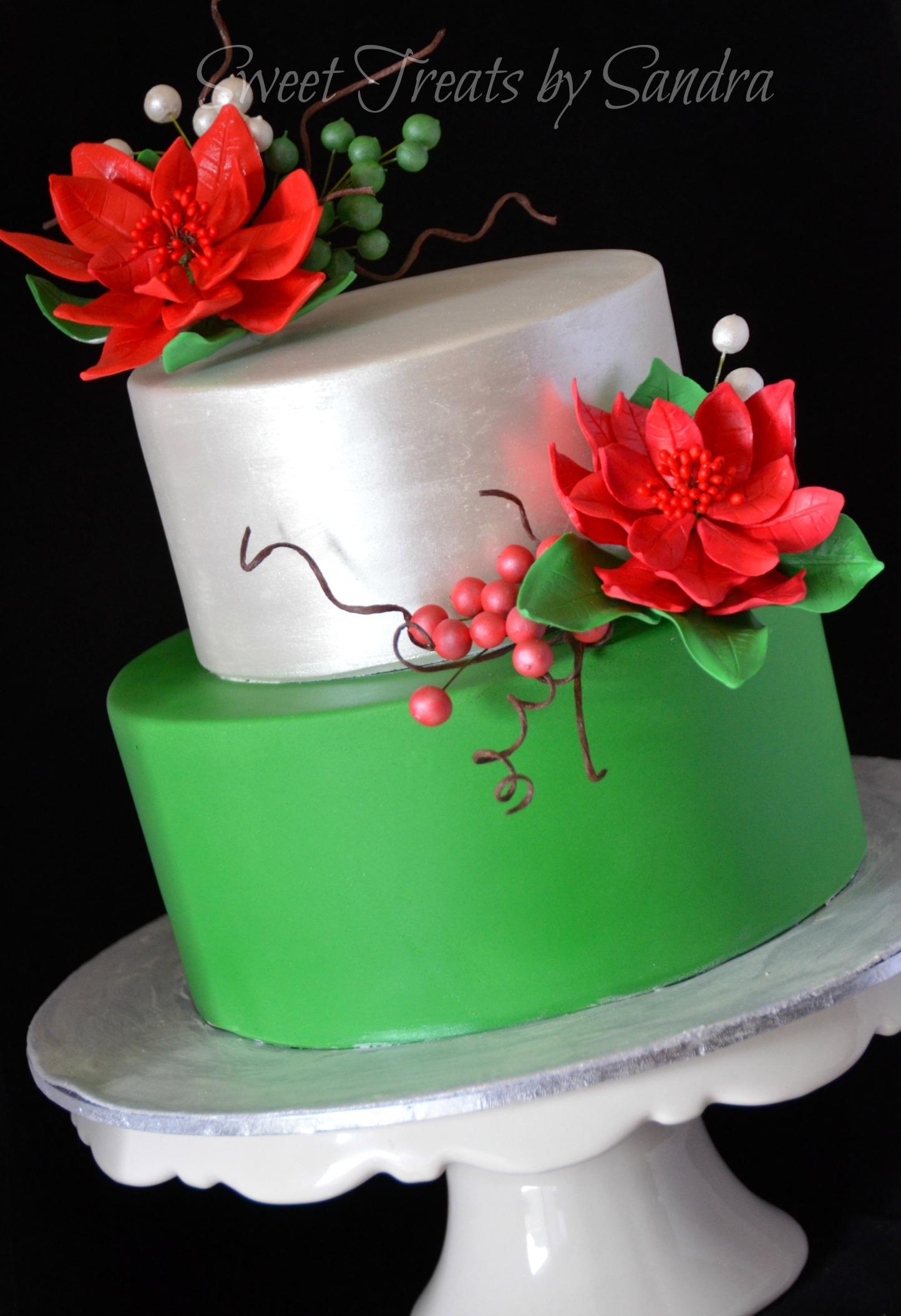 An Elegant Christmas Birthday Cake Cakecentral Com