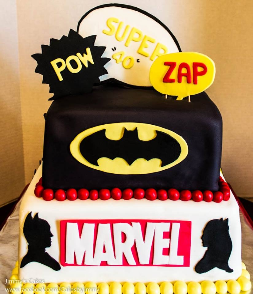 Dc Comics Birthday Cake Buttercream
