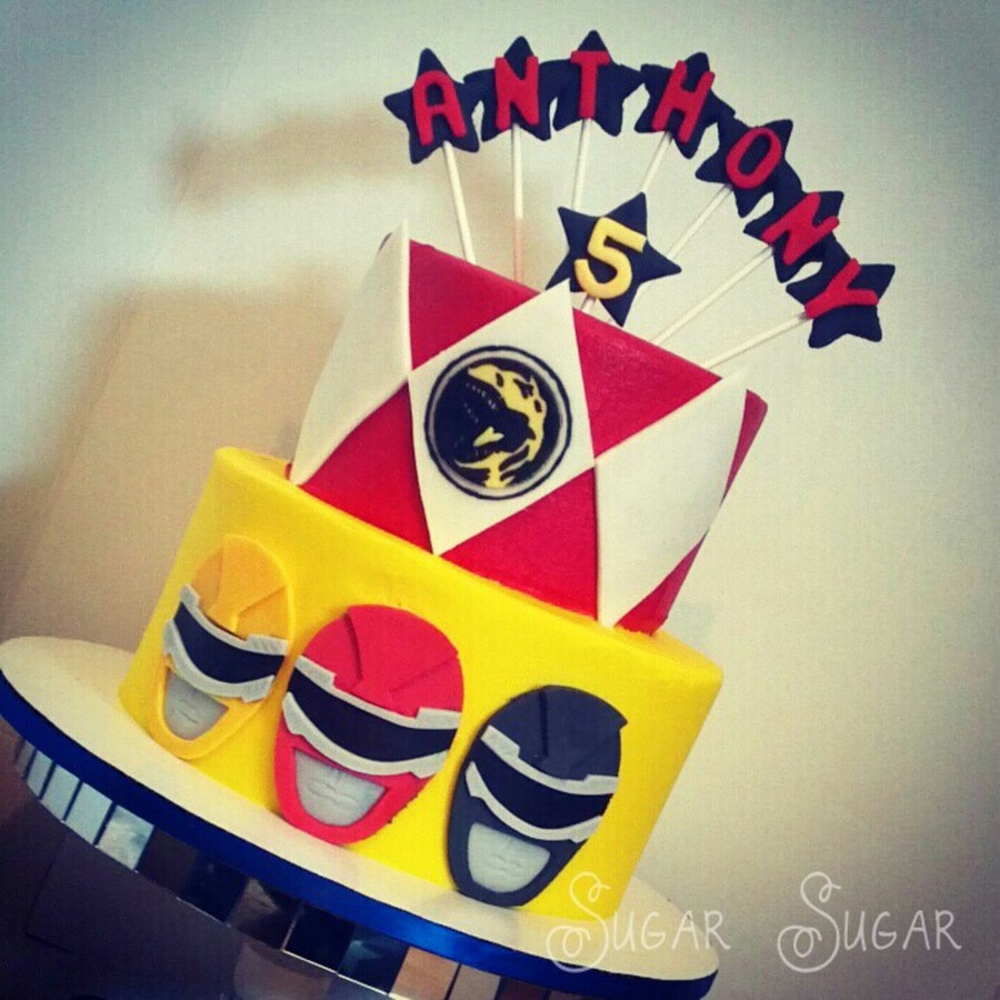 Power Rangers Themed Birthday Cake Cakecentral Com