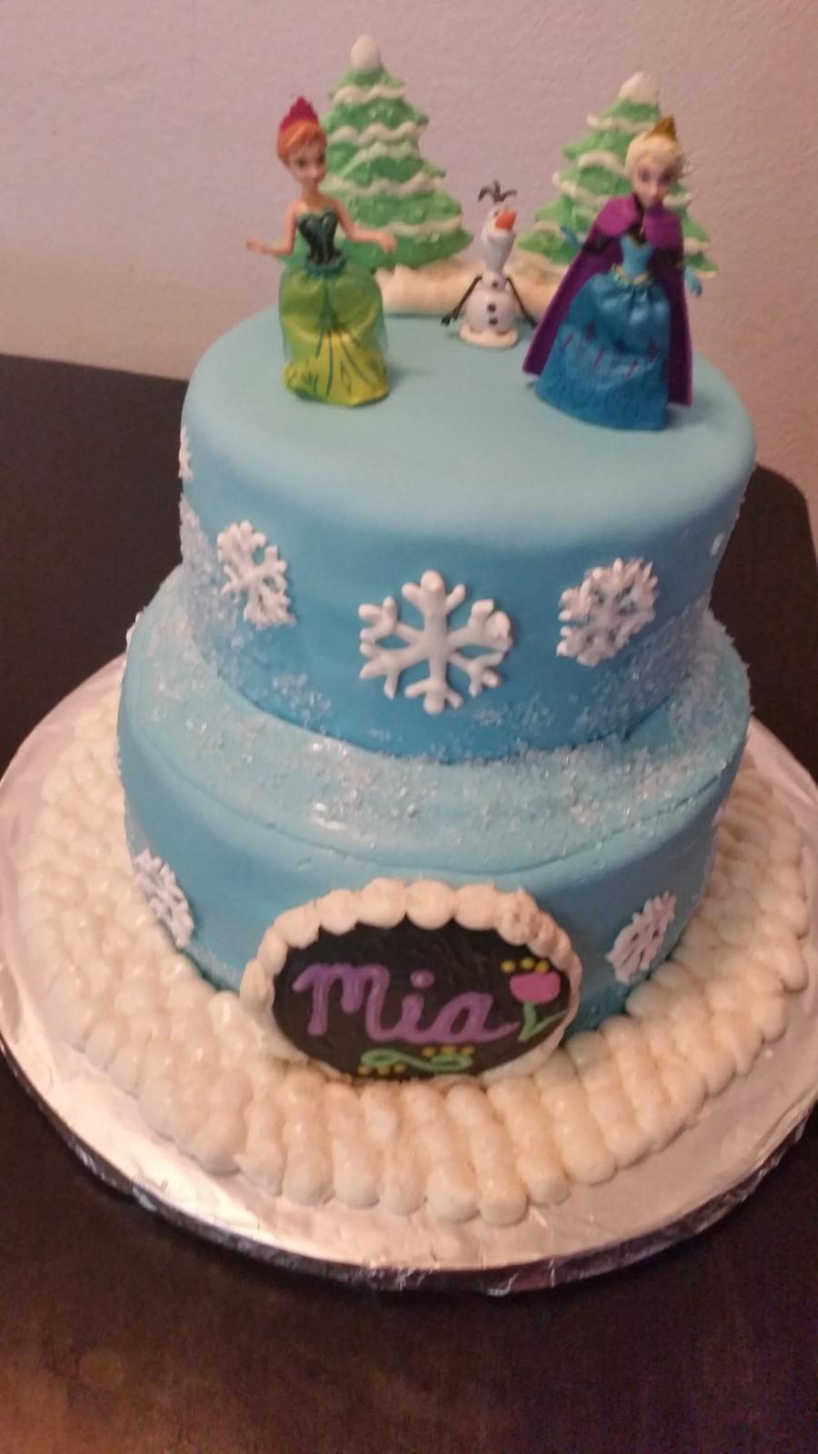 Disney S Frozen Cake Elsa Anna Olaf Cakecentral Com