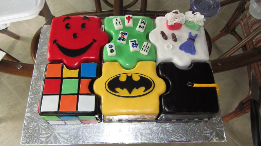 Mixed Themed Puzzle Cake Cakecentral Com