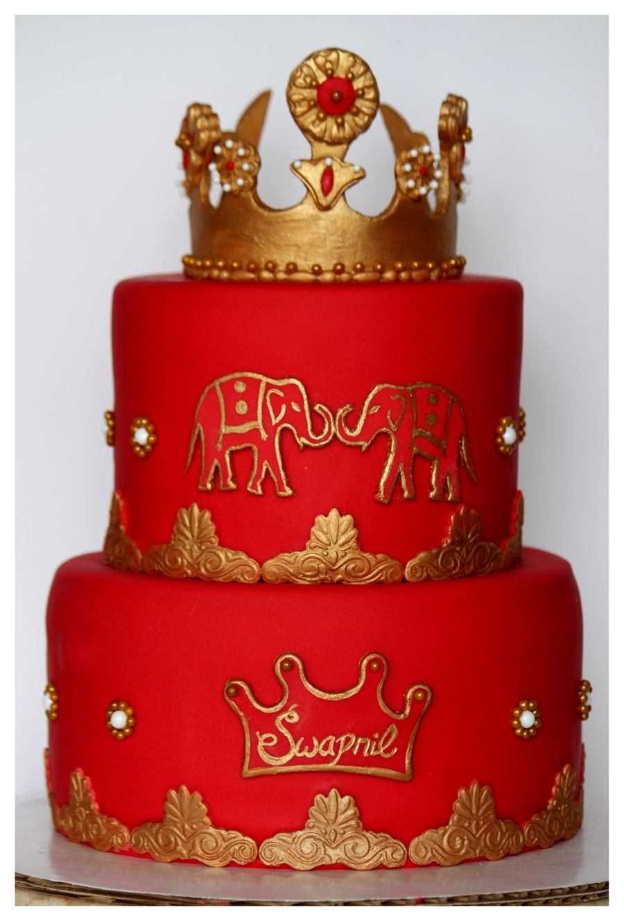 Quot Indian Prince Quot 1st B Day Cake Cakecentral Com