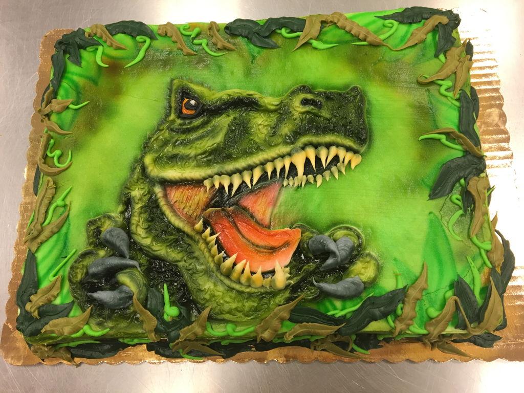 T Rex Birthday Cake