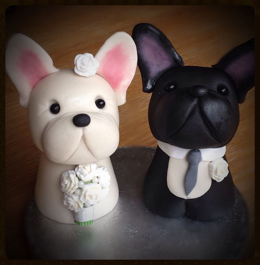 French Bulldog Wedding Cake Toppers Cakecentral Com