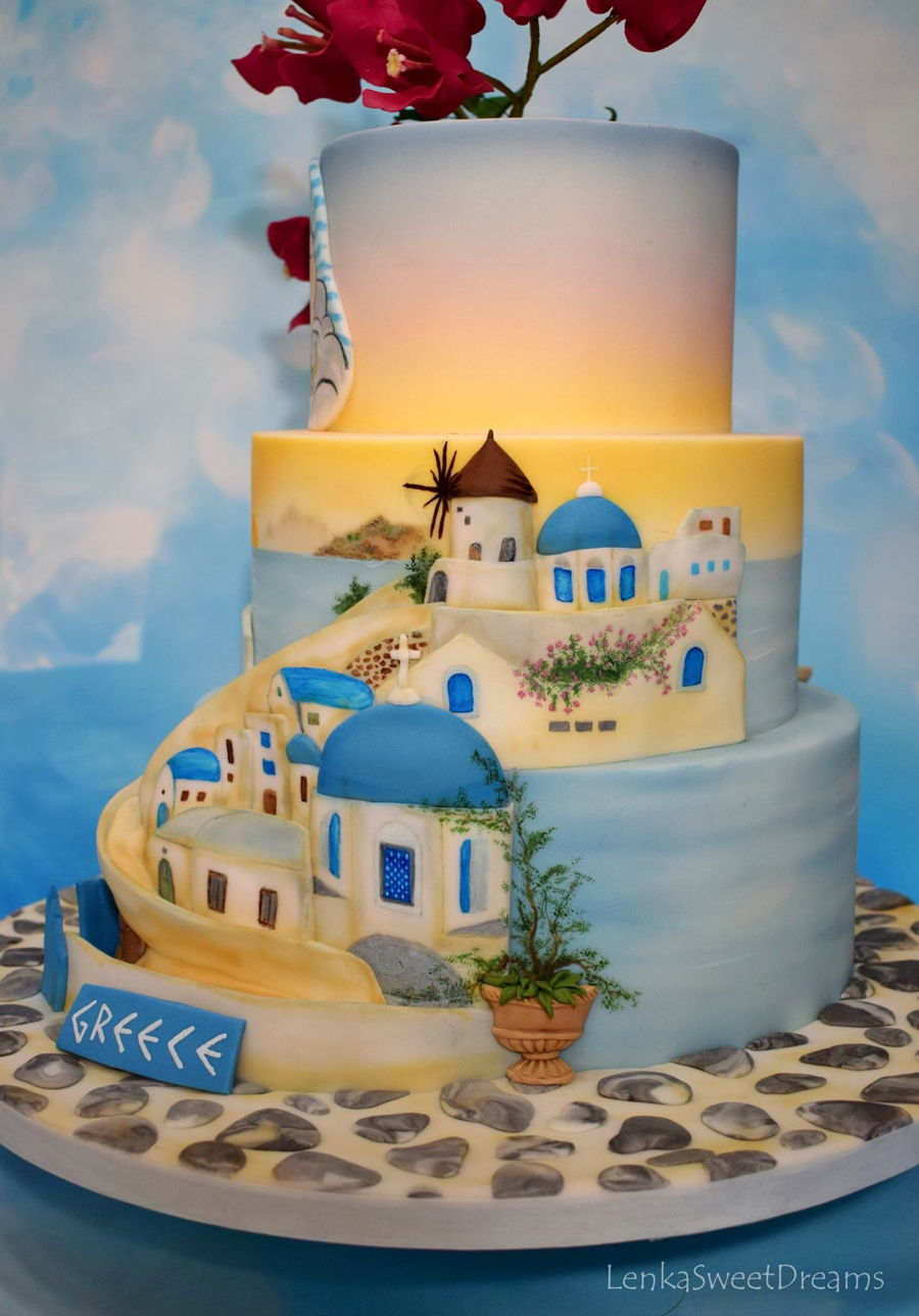 Sunset In Greece Cakecentral Com