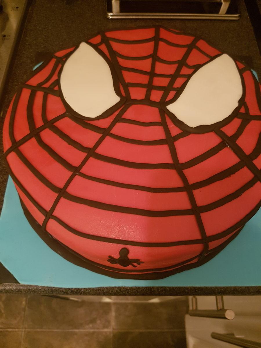 Easy Spiderman Cake Cakecentral Com