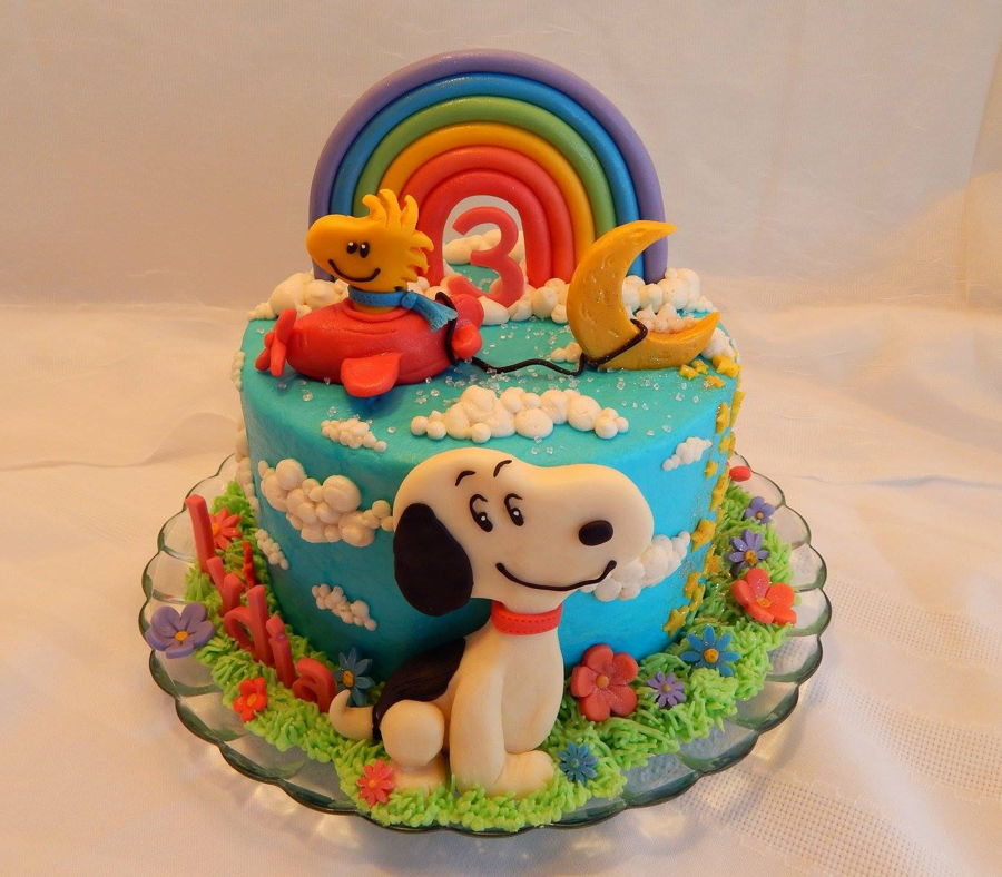Snoopy And Woodstock Cake Cakecentral Com