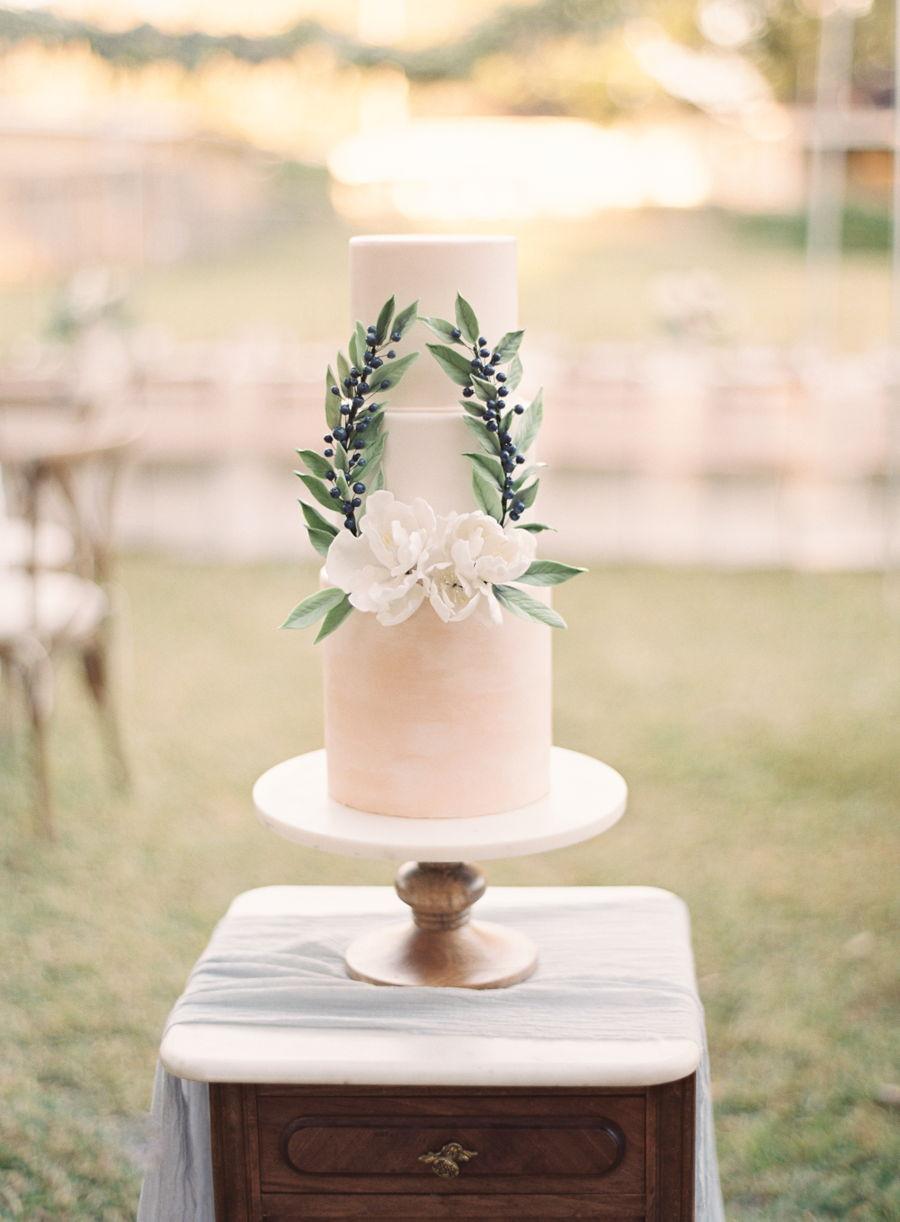 Floral Wreath Wedding Cake Cakecentral Com