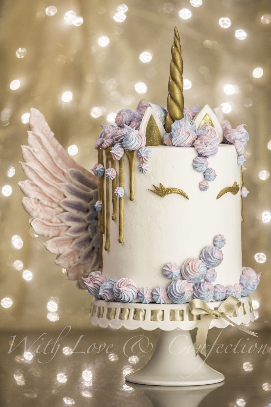 Unicorn Cake With Meringue Wings By Veronica Arthur With