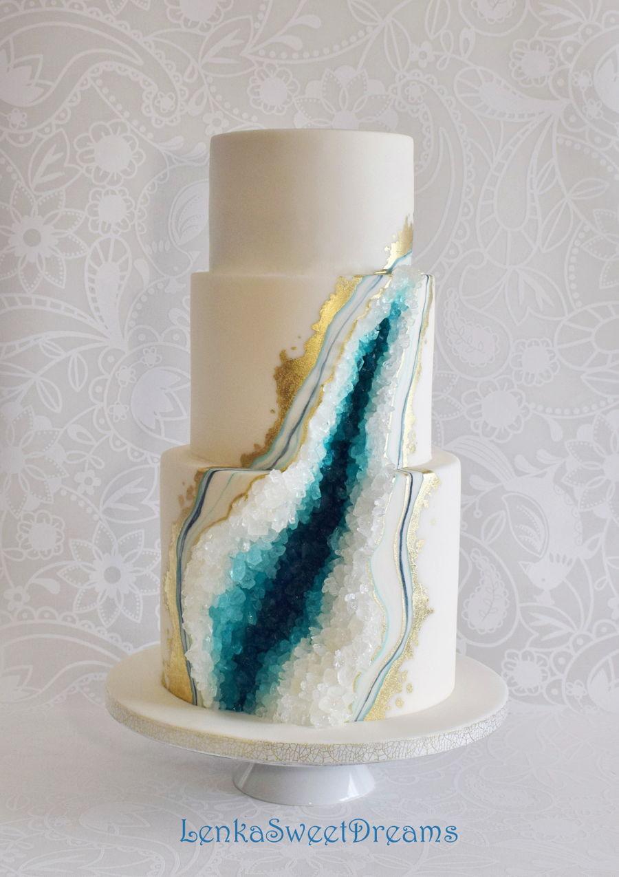 Geode Wedding Cake Cakecentral Com
