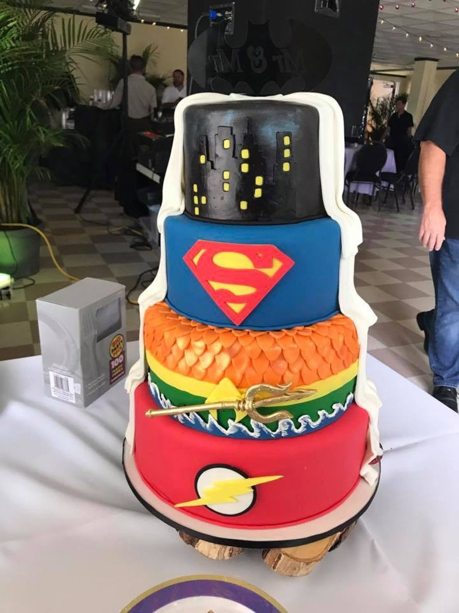 Superhero Wedding Cake   CakeCentral com
