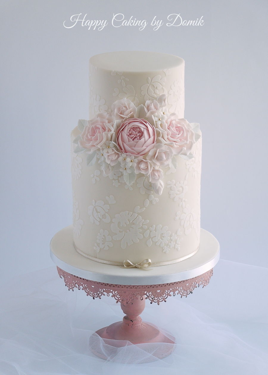 Vintage Wedding Cake   CakeCentral com Vintage Wedding Cake on Cake Central