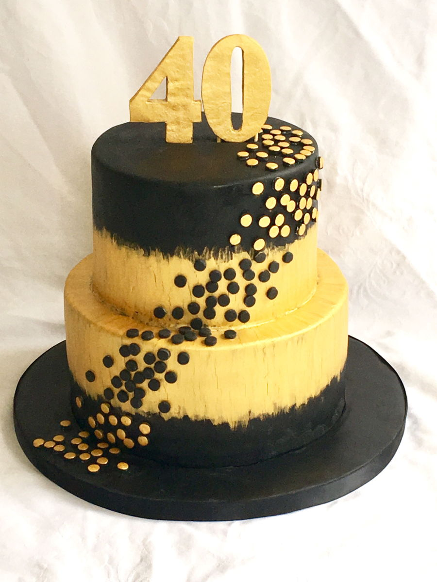 40th Gold And Black Cake Cakecentral Com