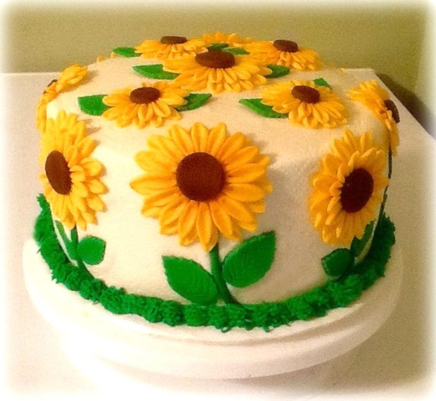 Sunflower Cake Cakecentral Com