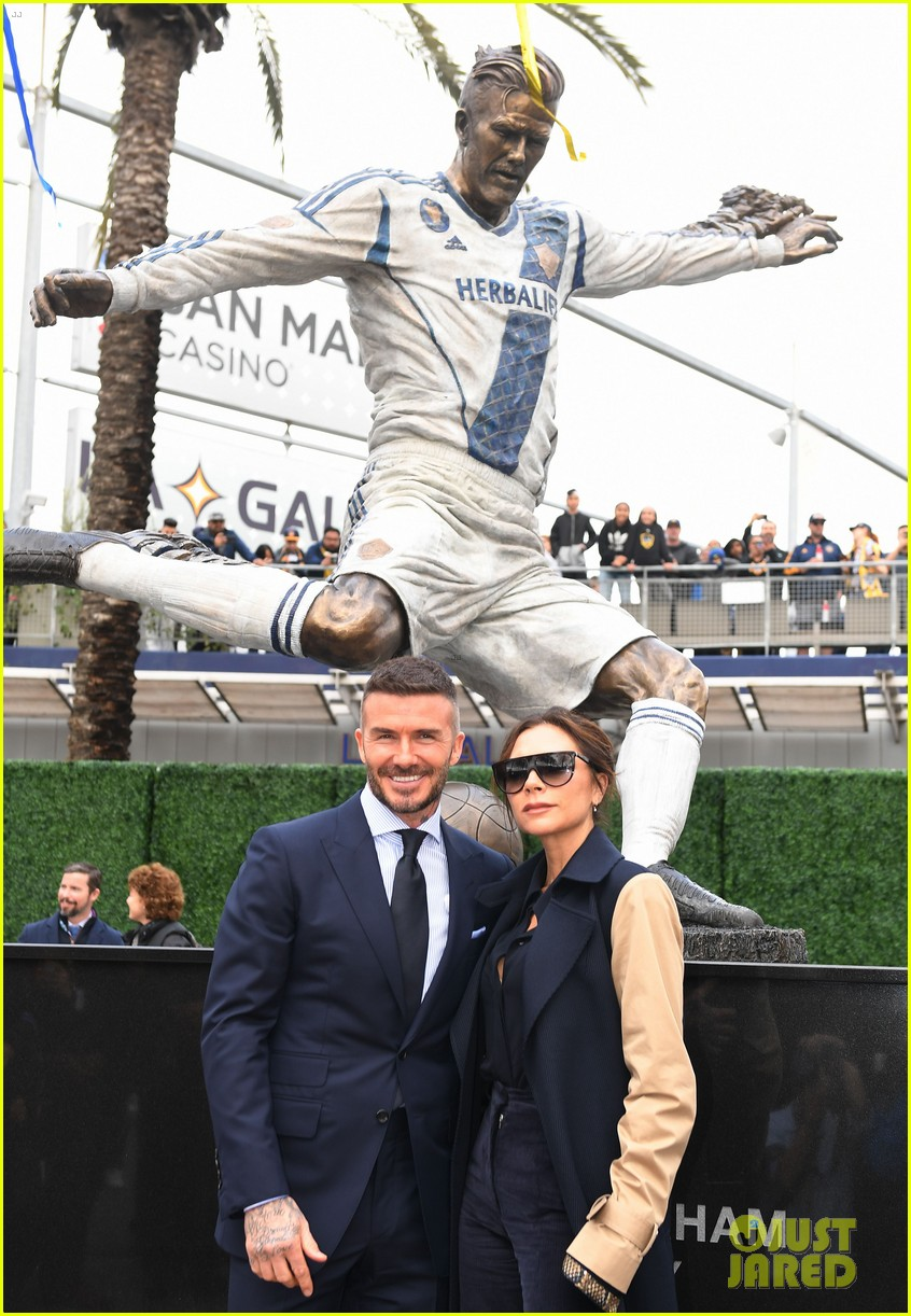 David Beckham is Supported by Wife Victoria at Unveiling ...