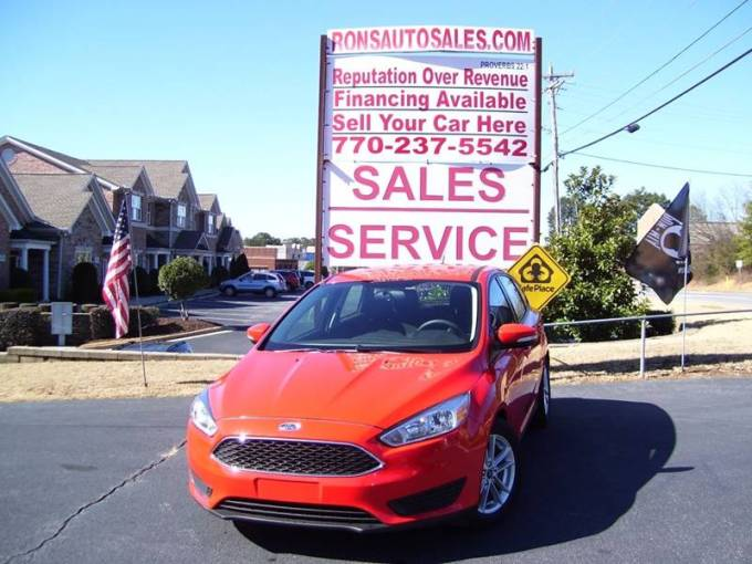 2016 Ford Focus SE In Lawrenceville GA   Rons Auto Sales INC 2016 Ford Focus for sale at Rons Auto Sales INC in Lawrenceville GA