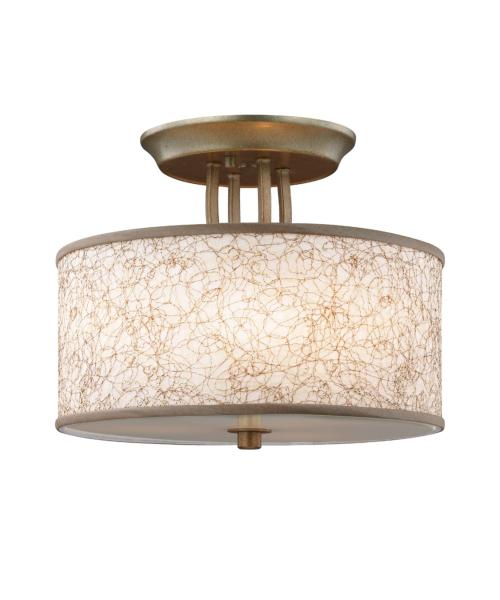 Murray Feiss SF323 Parchment Park 14 Inch Wide Semi Flush Mount     Shown in Burnished Silver finish