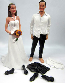 Custom Wedding Cake Toppers Personalized Bride   Groom Custom Disheveled Couple Wedding Cake Topper