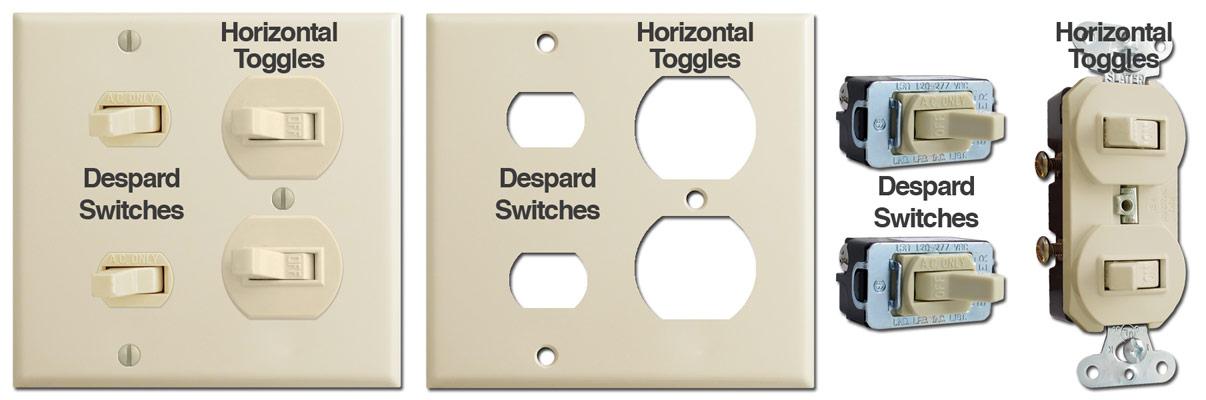Sideways Light Switch Covers