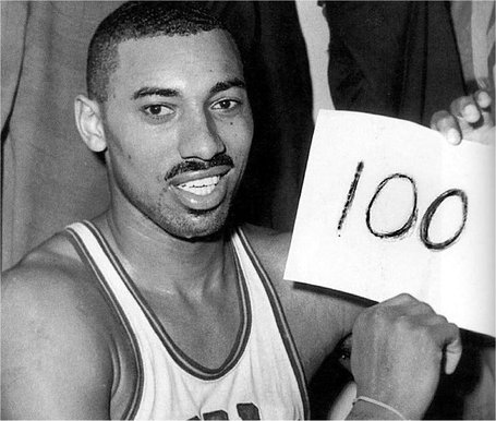 The radio broadcast of Wilt Chamberlain's 100th point