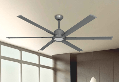Dan s Fan City       Ceiling Fans  Fan Parts   Accessories Titan II Brushed Nickel with 72  Aluminum Brushed Nickel Blades with 18W  LED Array Light and Remote