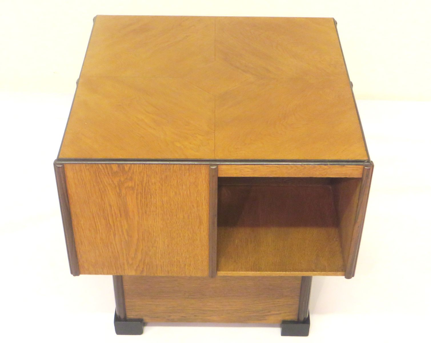 Oak Coffee Table With Bookshelves By U M S Pastoe 1930s