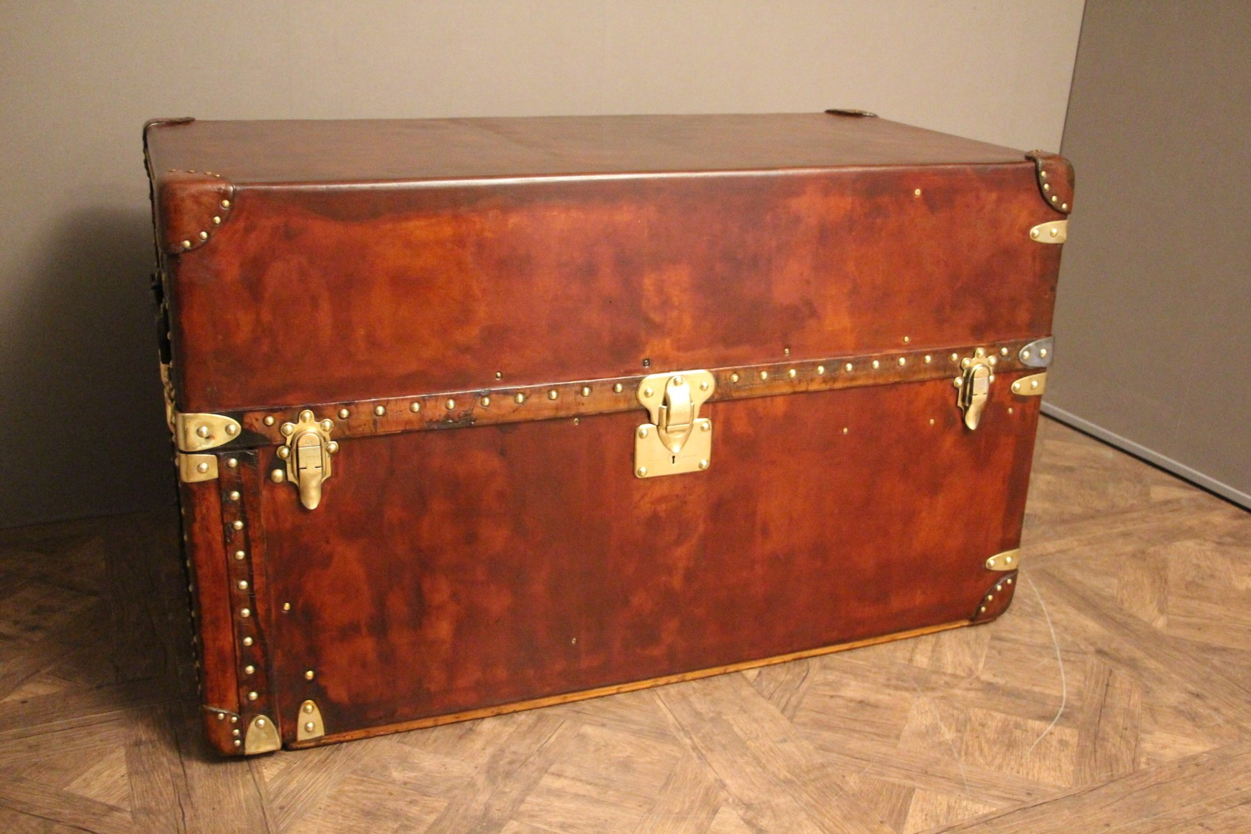 Large Leather Wardrobe Steamer Trunk From Louis Vuitton