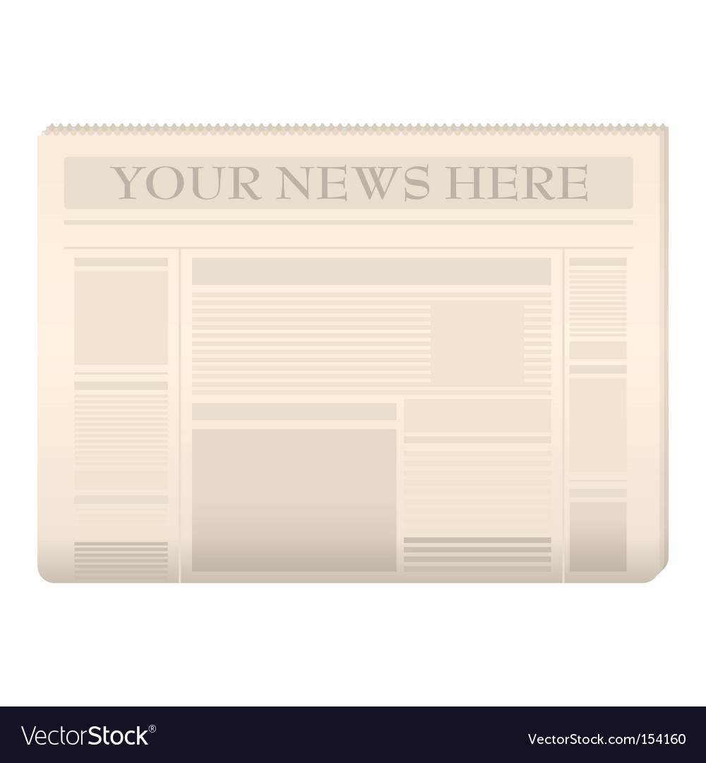 Newspaper template Royalty Free Vector Image   VectorStock Newspaper template vector image