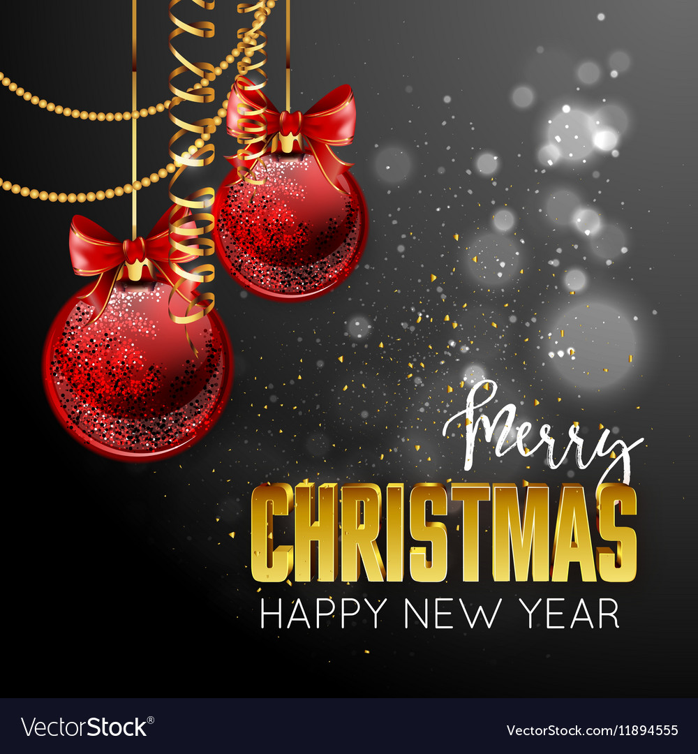 Merry Christmas and happy new year design template Merry Christmas and happy new year design template vector image