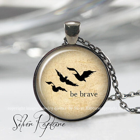 Buy Divergent Be Brave necklace, Be Brave Pendant ...