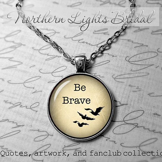 Buy Be Brave necklace Divergent inspired Tris Quote ...