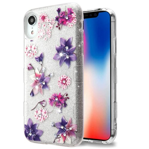 Tuff Full Glitter Diamond Hybrid Protective Case For