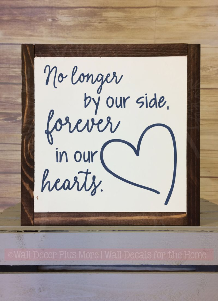 Forever In Our Hearts Memorial Quote Family Wall Art ...