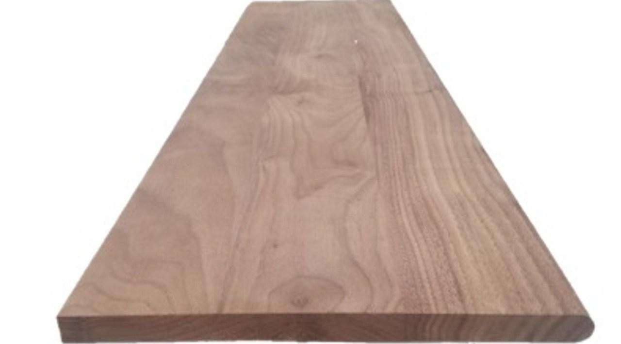 American Walnut Stair Tread Hardwoodstairsdirect Com | Prefinished Walnut Stair Treads | Hardwood Lumber | Hardwood | Wood Stair | Stair Parts | Brazilian Walnut
