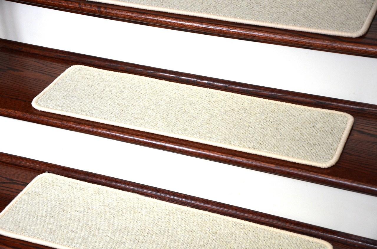 Dean Tape Free Pet Friendly Premium Wool Non Slip Stair Gripper | 8 Inch Carpet Stair Treads | Wooden Stairs | Bullnose Carpet | Skid Resistant | Non Skid | Non Slip Stair
