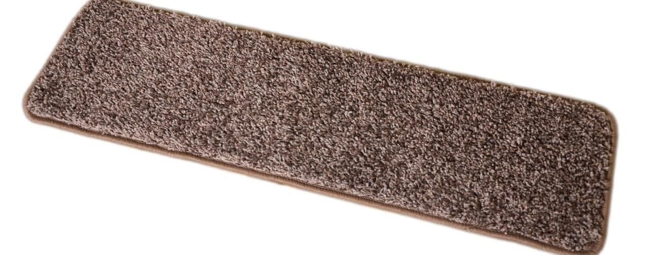 Dean Washable Non Slip Carpet Stair Treads Fresh Coffee Brown | 8 Inch Carpet Stair Treads | Bullnose Carpet | Wood Stairs | Rubber Backing | Mat | Non Slip Stair