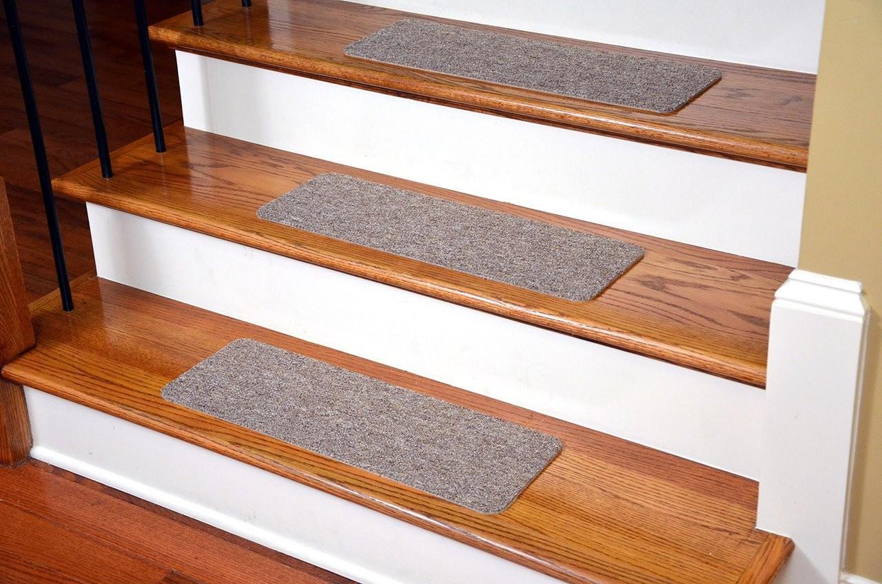 Dean Affordable American Made High Quality Non Skid Diy Peel | Dean Flooring Stair Treads | Fiber Sisal | Bullnose Wraparound | Stick Bullnose | Sisal Carpet | Washable Non