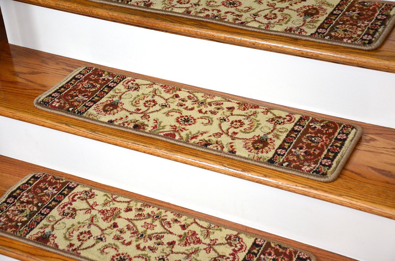 Dean Non Slip Pet Friendly Carpet Stair Step Cover Treads | Carpet Treads For Steps | Laminate | Interior | Basement Stair Carpet | Double Thickness Tread | Turquoise