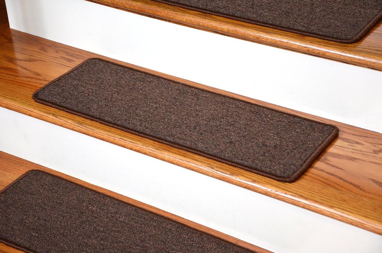 Dark Brown Carpet Stair Treads Nonskid 13 Pk | Stairs With Carpet Treads | Oak | Semi Circle | Outdoor Carpet | Laminate | Turquoise