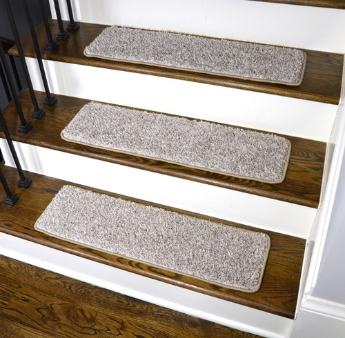 Dean Washable Non Slip Carpet Stair Treads Macadamia Beige Set   Beige Carpet On Stairs   Living Room   Art Deco   Design   Pattern   Builder Grade