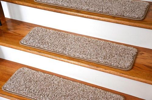 Dean Premium Stair Gripper Tape Free Non Slip Pet Friendly Diy   Beige Carpet On Stairs   Pattern   Dark Beige   Nice   Bound Edge   Hardwood Transition