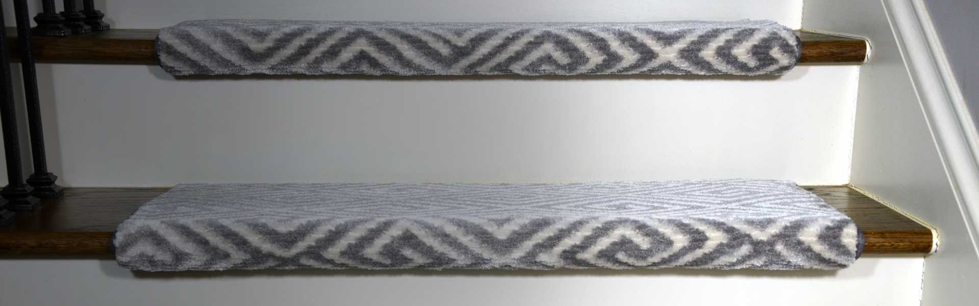 Carpet Stair Treads Runner Rugs – Dean Flooring Company | 36 Inch Carpet Stair Treads | Basement Stairs | Slip Resistant | Coffee Brown | Diamond Trellis | Bullnose Carpet