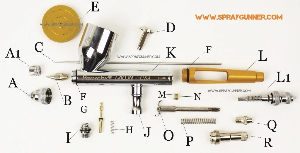 Accessories Paasche Airbrush And Parts