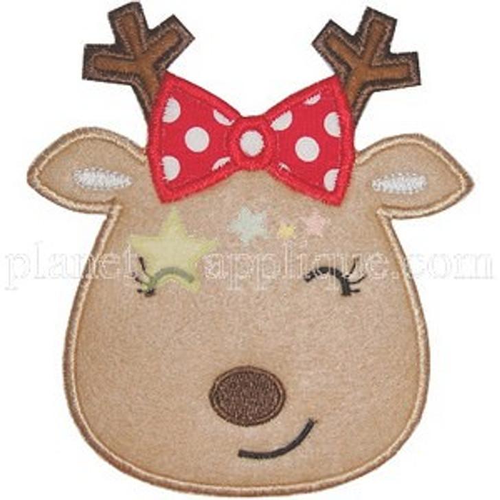 Girly Applique Reindeer