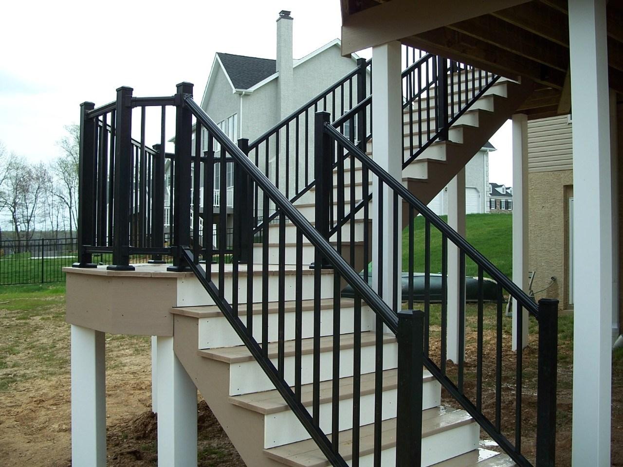 Key Link Arabian Series Aluminum Stair Railing Sections   Installing Aluminum Stair Railing   Baluster   Deck Stair   Balcony Deck   Railing Systems   Pressure Treated