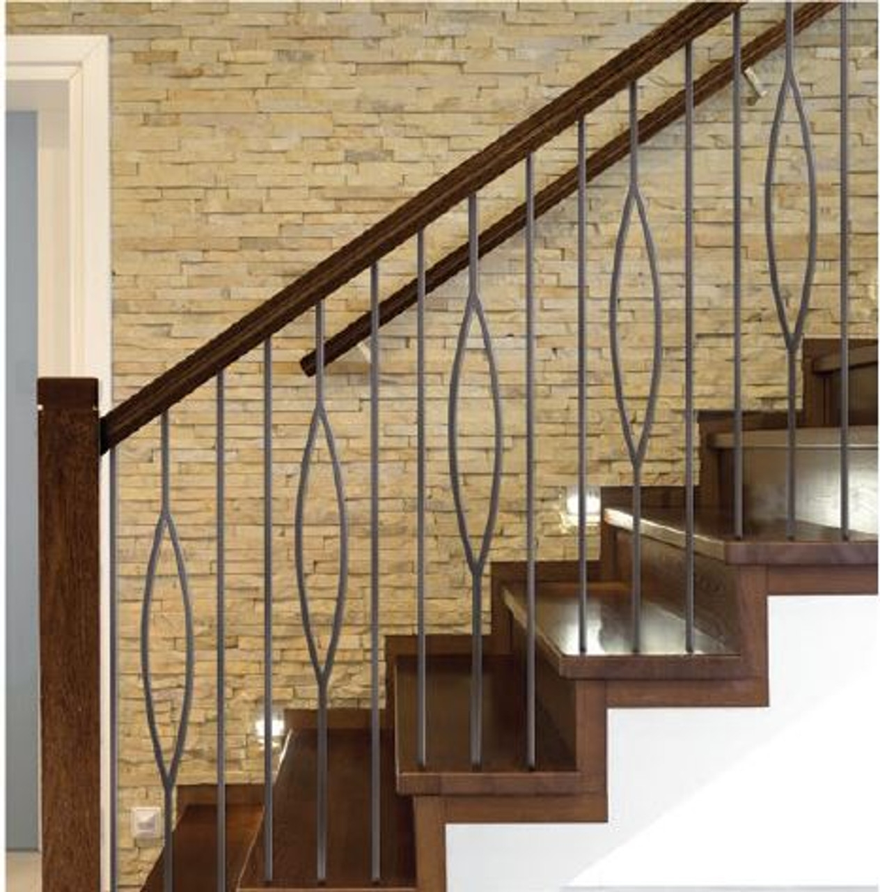 Hf16 6 7 Oval Tubular Steel Baluster Westfire Stair Parts | House Of Forgings Aalto | Stair Parts | Aalto Modern | Aalto Collection | Wrought Iron Baluster | Handrail