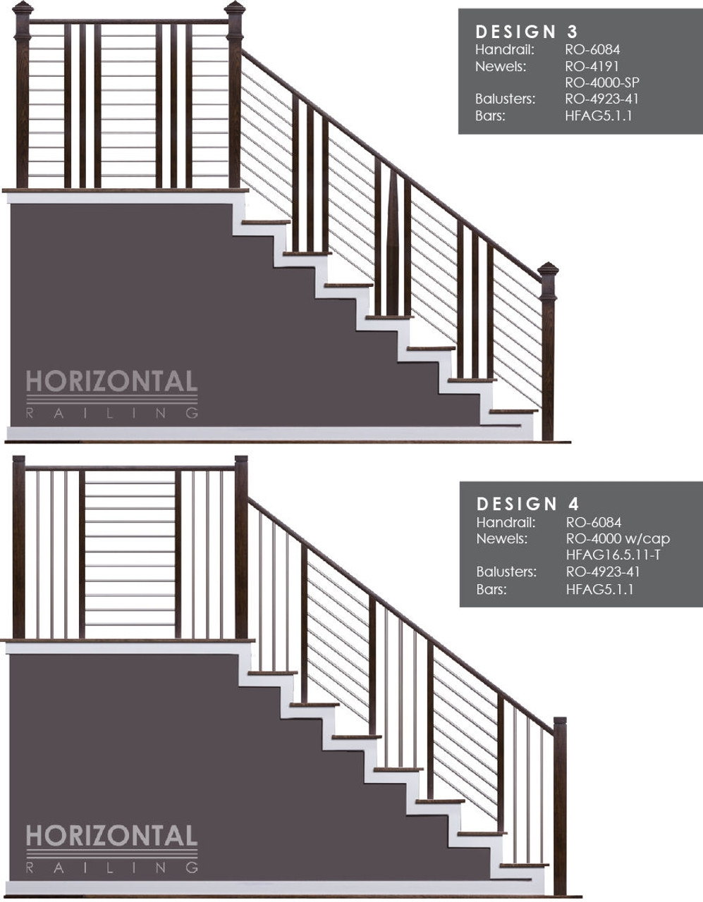 Hf5 1 1 Horizontal Railings And Bars Westfire Stair Parts   Tubular Design For Stairs   Stainless Steel   Fully Covered Balcony Grill   Fabrication   Simple   Industrial