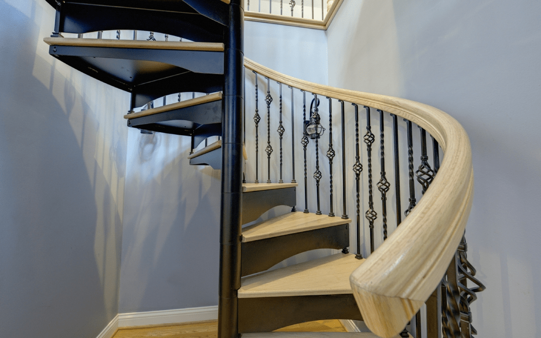 Indoor Spiral Staircases Prices Starting At 540 Mylen Stairs   The Iron Shop Spiral Staircase   Stairs Built   Loft Staircase   Attic Loft   Staircase Ideas   White Spiral