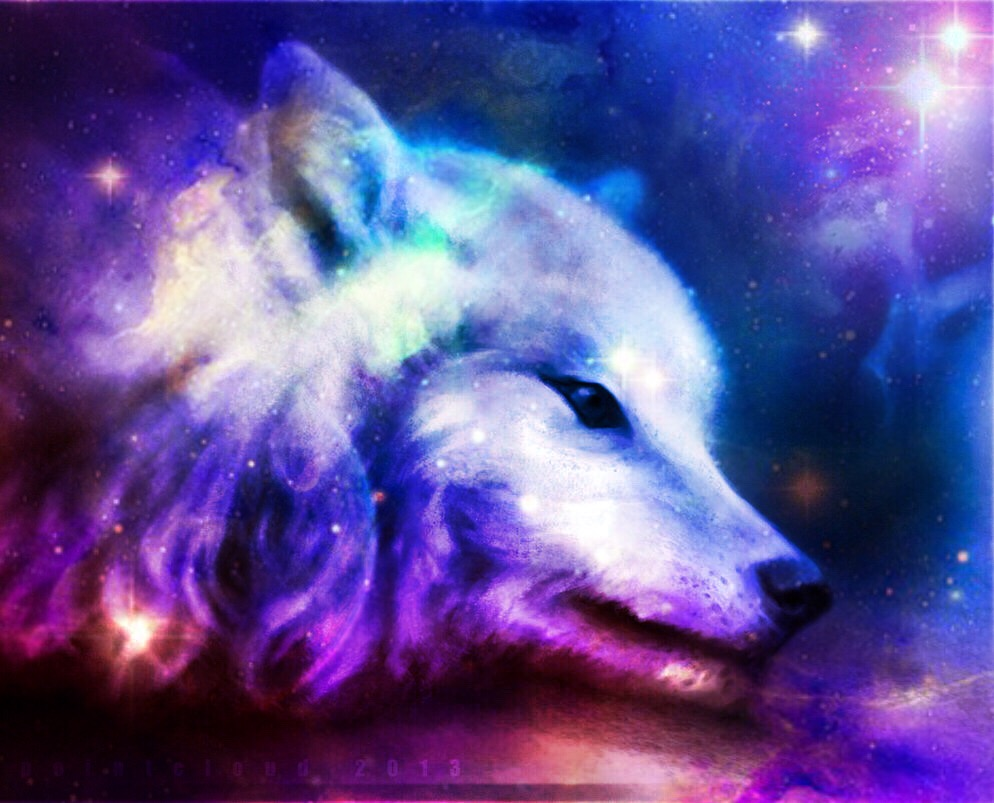 Cool wolf edit galaxy galaxywolf myedit freetoedit remi...
