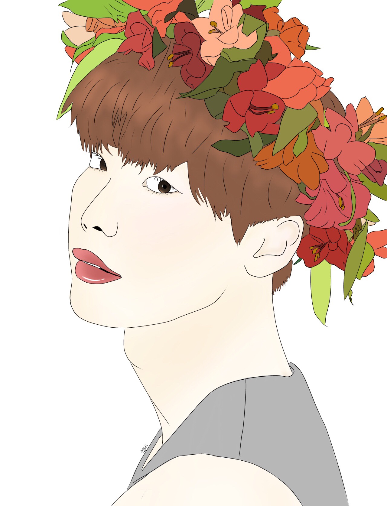 Drawig flower crown gardening flower and vegetables my best drawing actually the flower crown took so izmirmasajfo